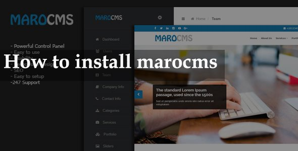 How to install marocms script