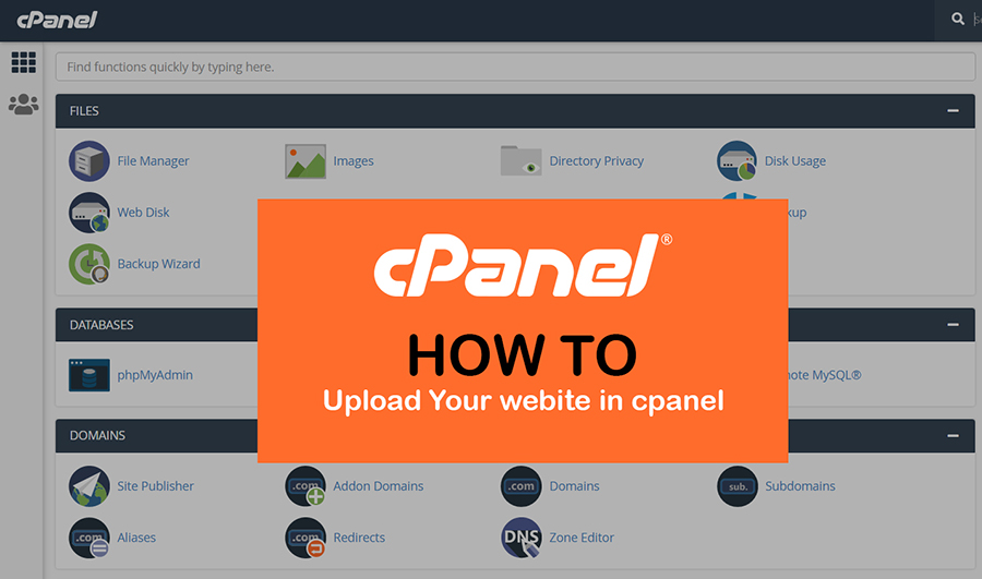 How to upload your website in cpanel