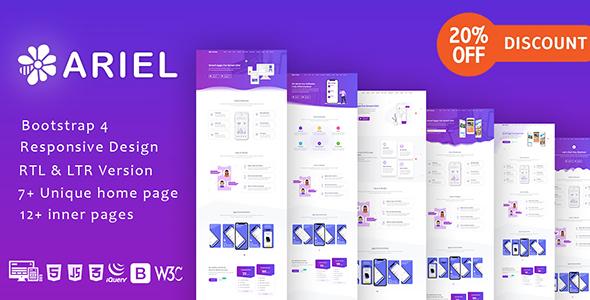 Ariel - App Landing Page Template + RTL