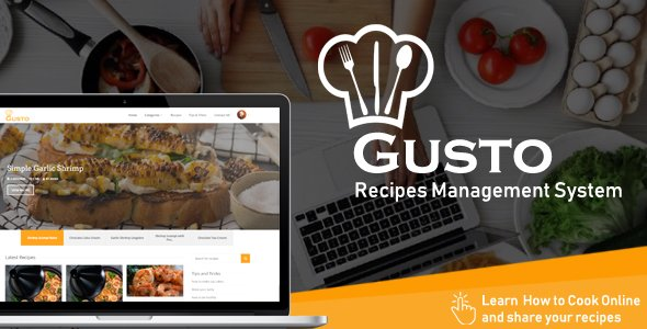 Gusto - Recipes Management System V3.1