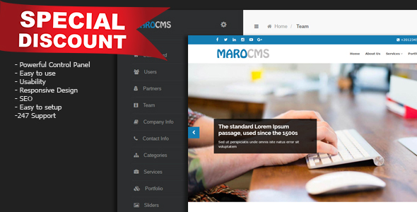 MaroCMS - Business CMS