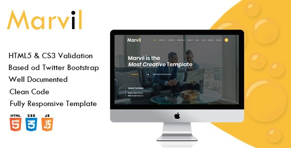 Marvil - Multi purpose HTML Template