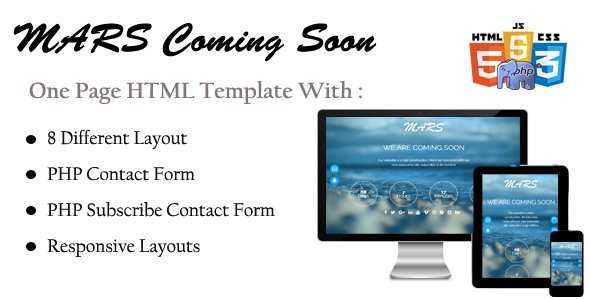 Mars - HTML Coming Soon Template