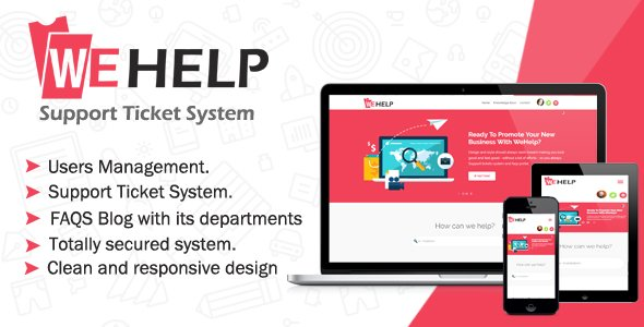 WeHelp - Ticket Support System V1.6